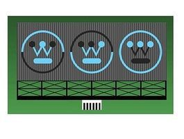 Micro-Structures Westinghouse Animated Neon Billboard HO Scale Model Railroad Sign #441552