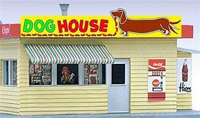 Micro-Structures Dog House Animated Neon Billboard HO & N Scale Model Billboard Sign #442452