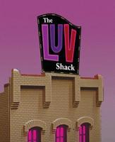 Micro-Structures The LUV Shack Animated Neon Billboard Kit HO Scale Model Railroad Sign #4481