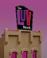 Micro-Structures The LUV Shack Animated Neon Billboard Kit N Scale Model Railroad Sign #4482