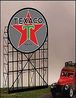 Micro-Structures Texaco Animated Neon Small Billboard N Scale Model Railroad Billboard #5182