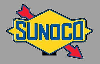 Micro Structures SUNOCO ROTATING SIGN -- O Scale Model Railroad Sign -- #55015