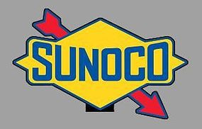 Micro-Structures SUNOCO ROTATING SIGN O Scale Model Railroad Sign #55015