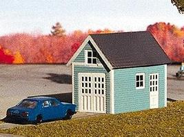 Micro-Structures One-Car Garage (Photo Etched Brass Kit) N Scale Model Railroad Building #601003