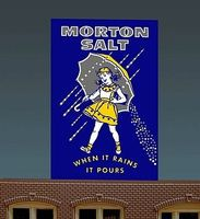 Micro-Structures Morton Salt Small Animated Neon Billboard w/Support Kit HO Scale Model Railroad Sign #6062