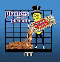 Micro-Structures Planters Peanuts w/Mr. Peanut Small Animated Billboard Kit HO Scale Model Railroad Sign #7062