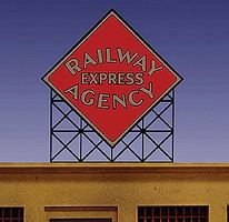 Micro-Structures Railway Express Agency Diamond Logo Small Animated Billboard N Scale Model Railroad Sign #72