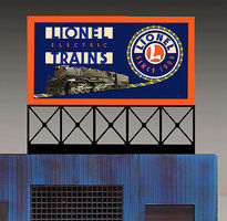 Micro-Structures Lionel Animated Neon Rooftop Billboard O Scale Model Railroad Sign #880351