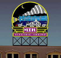 Micro-Structures MTH Animated Neon Billboard O Scale Model Railroad Sign #880401