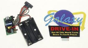 Micro-Structures Galaxy Drive-In Animated Neon Billboard Model Railroad Sign #8981