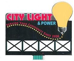 Micro-Structures City Light & Power Animated Neon Billboard Kit Model Railroad Accessory #9281