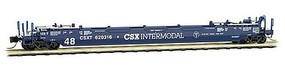 Micro-Trains 70 Husky-Stack Well Car with 48 Well - Ready to Run CSX 620316B (blue, white) - N-Scale