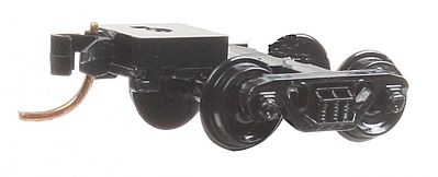 Micro Trains Line Barber Roller-Bearing Trucks With Medium Extended Couplers -- N Scale Model Train Truck -- #302042
