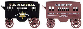 Micro-Trains U.S. Marshal & Sheriff Wagon 2-Pack Assembled) N Scale Model Railroad Vehicle #47000239