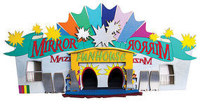 Micro-Trains Mirror Maze Fun House Circus Ride - Decorated Kit N Scale Model Train Building #49990502