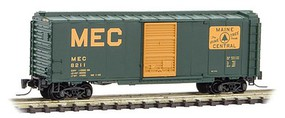 Micro-Trains 40 Single-Door Boxcar - Ready to Run Maine Central #8211 (green, Harvest Gold, Large MEC & Rectangle Logo) - Z-Scale