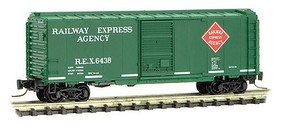 Micro-Trains 40 Single-Door Boxcar - Ready to Run Railway Express Agency #6438 (green, red) - Z-Scale