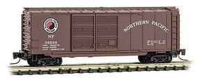 Micro-Trains 40 Double-Door Boxcar - Ready to Run Northern Pacific 38268 (Boxcar Red, Medium Monad Logo) - Z-Scale