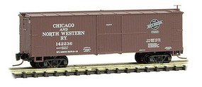Micro-Trains 40 Wood-Sheathed Boxcar - Ready to Run Chicago & North Western #142236 (Boxcar Red) - Z-Scale