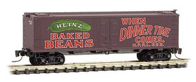 Micro-Trains 40 Wood-Sheathed Ice Reefer - Ready to Run Heinz HPRL 322 (Boxcar Red, red, green, Heinz Series Car 6) - Z-Scale