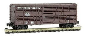 Micro-Trains 40 Despatch Stock Car - Ready to Run Western Pacific #75894 (Boxcar Red) - Z-Scale
