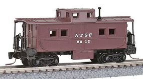 Micro-Trains Steel Center-Cupola Caboose Santa Fe #2016 Z Scale Model Train Freight Car #53500120