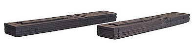 Micro Trains Line 60' Steel Plate Load 2-Pack -- Z Scale Model Train Freight Car Load -- #79943957