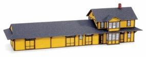 Micro-Trains Train Station Kit Laser-Cut Microthin Ply Z Scale Model Railroad Building #79990906
