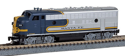 Micro Trains Line F7A Powered ATSF #329 -- Z Scale Model Train Diesel Locomotive -- #98001102