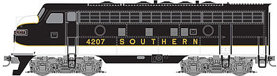 Micro Trains Line F7A Unit Powered Southern #4207 -- Z Scale Model Train Diesel Locomotive -- #98001371