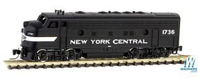 Micro-Trains F7A Powered New York Central #1736 Z Scale Model Train Diesel Locomotive #98001431