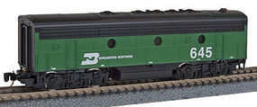 Micro-Trains F7B Powered Burlington Northern #645 Z Scale Model Train Diesel Locomotive #98002252
