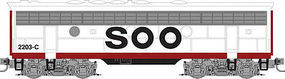 Micro-Trains F7B Powered SOO Line #2203C Z Scale Model Train Diesel Locomotive #98002361