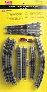 Micro Trains Line 20-Piece Expansion Set Micro-Track(TM) -- Z Scale Nickel Silver Model Train Track -- #99040102