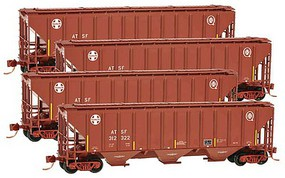Micro-Trains 3-Bay Cov Hopper ATSF - N-Scale