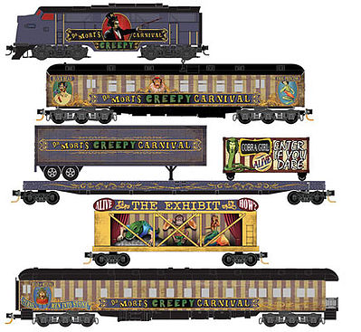 Micro Trains Line Halloween Train-Only Set -- Dr. Mort's Creepy Carnival - N-Scale