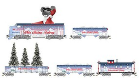 Micro-Trains White Xmas Delivery Set - N-Scale