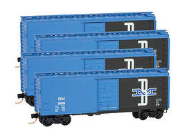 Micro-Trains Boxcar Runner Pack Boston & Maine (4) Z Scale Model Train Freight Car #99400076