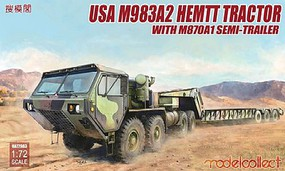 Model-Collect US M983A2 HEMTT Tractor & M870A1 Semi-Trailer Plastic Model Military Vehicle 1/72 #72083