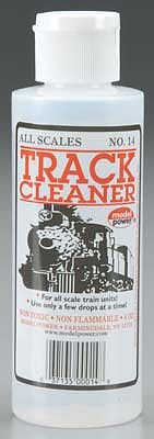 Model Power Track Cleaner 4 OZ -- Model Train Track Accessory -- #14