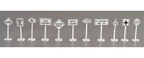 Model-Power Road & Rail Signs - pkg(24) HO Scale Model Railroad Billboard Sign #1454