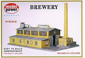 Model-Power Brewery Kit N Scale Model Railroad Building #1509