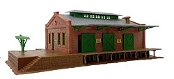 Model Power Freight Depot Kit -- N Scale Model Railroad Building -- #1519
