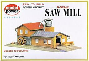 Model-Power Saw Mill Kit N Scale Model Railroad Building #1523