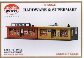 Model-Power Mart & Hardware Kit N Scale Model Railroad Building #1534