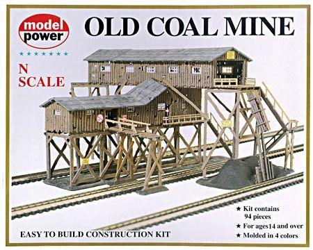Model Power Old Coal Mine Kit -- N Scale Model Railroad Building -- #1552