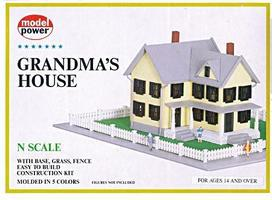 Model-Power Grandmas House N Scale Model Railroad Building #1556