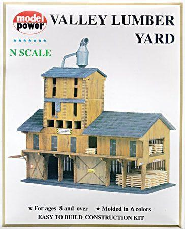 Model Power Lumber Yard Kit -- N Scale Model Railroad Building -- #1565