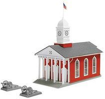 Model-Power County Court House Kit HO Scale Model Railroad Building #183