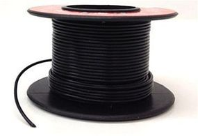 Model-Power Hook-Up Wire 1 Conductor Black 35 Model Railroad Hook-Up Wire #2300